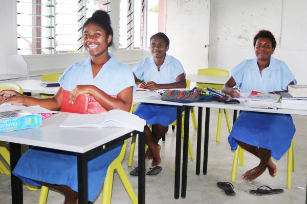 Tafea College students studying for exams. Tafea College is one of 13 schools in Vanuatu that administers the SPFSC exams.