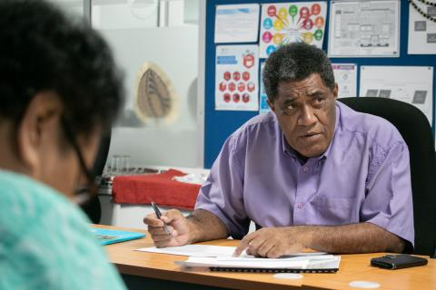 Fiji's representative Josaia Sila during the PILNA Steering Committee meeting last week.